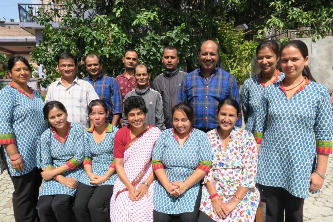 Navjyoti staff with Sister Lisa