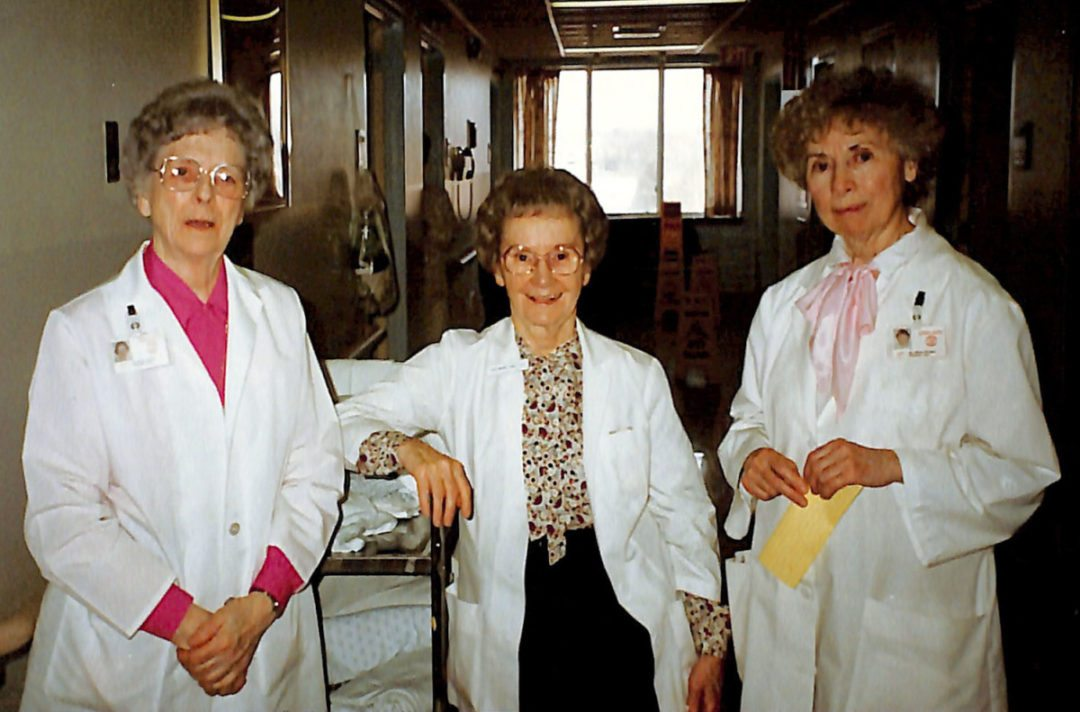Left to right — Sister Julia Dillea, Sister Margaret Crowley, Sister Helen Glidden