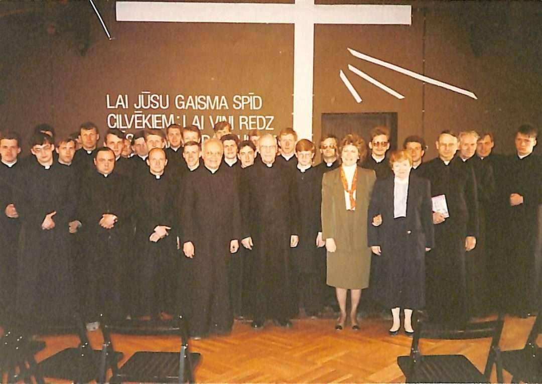 Professor Gloria Durka, Fordham University, Sister Elaine McCarron/, from USCCB teaching seminarians in Riga, Latvia, shortly after the fall of communism.