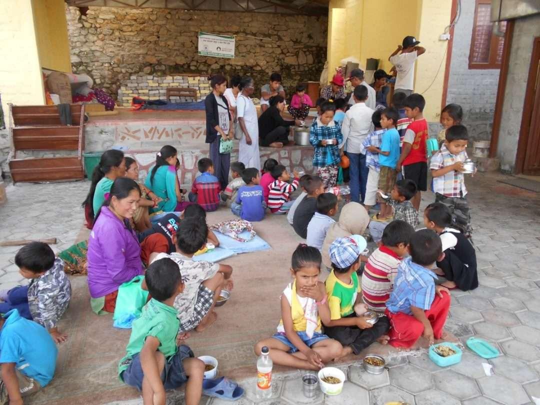 Philomina Bading supervises the nutritional food program of the child center, Baniatar