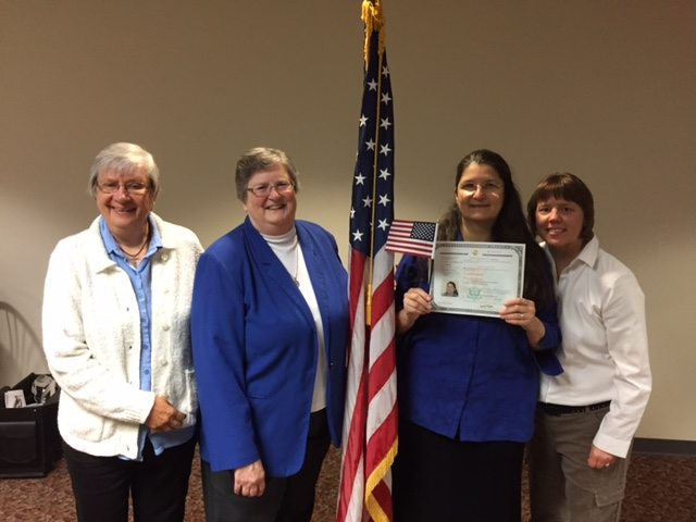 Sister Isa becomes US citizen
