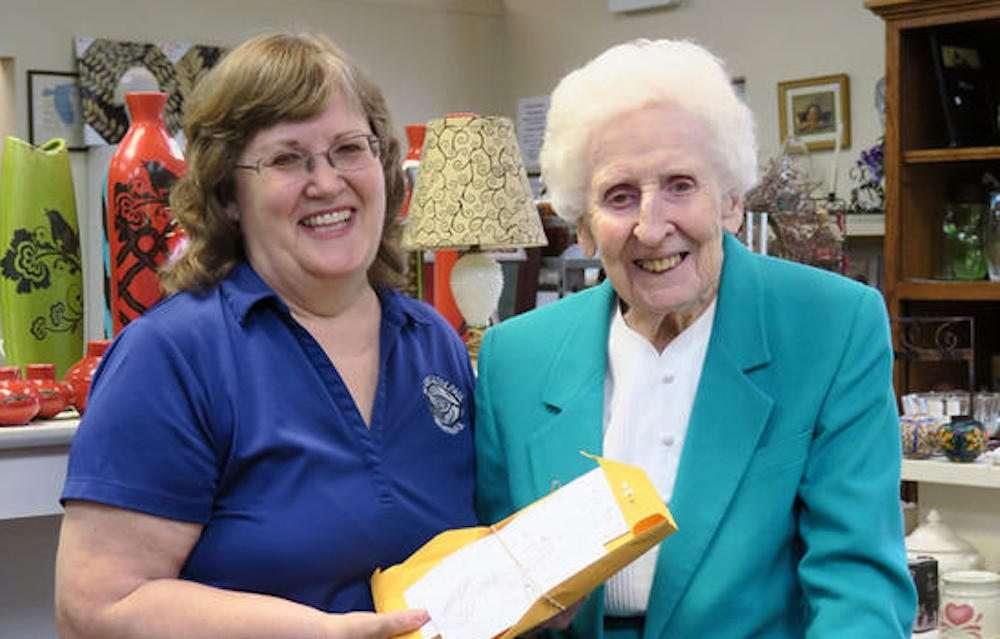 Sisters donate to St. Vincent de Paul