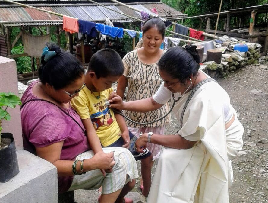 Strike continues in Darjeeling, Sister Deena meets with patients
