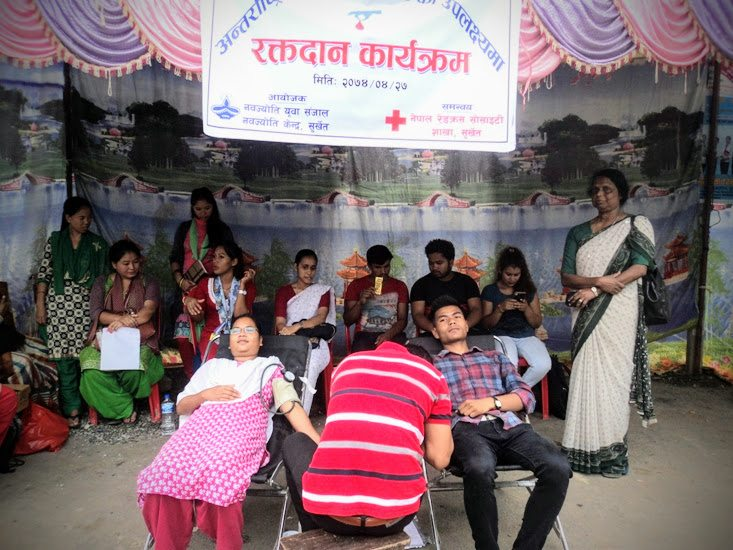 In Nepal, Sisters celebrate Youth Day with blood drive