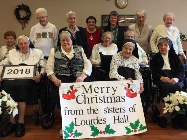 Lourdes Hall celebrates the season