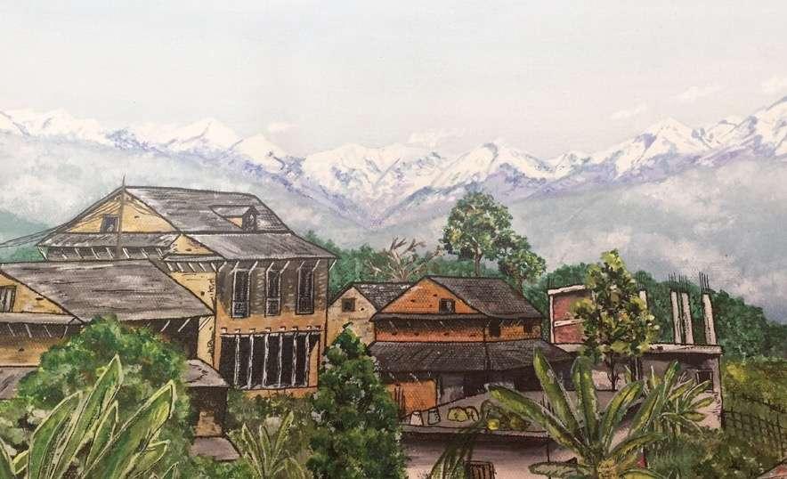 The artist in Kathmandu
