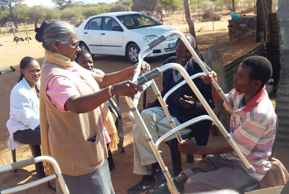 Sisters care for home-based patients and the terminally ill in Botswana
