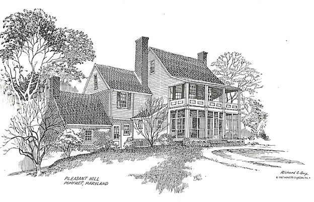 Pleasant Hill, Pomfret, MD: Mother Catherine's First Home