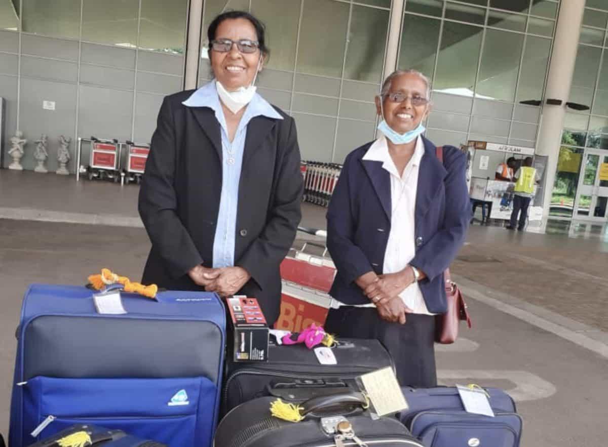 Sisters leave for Kenya