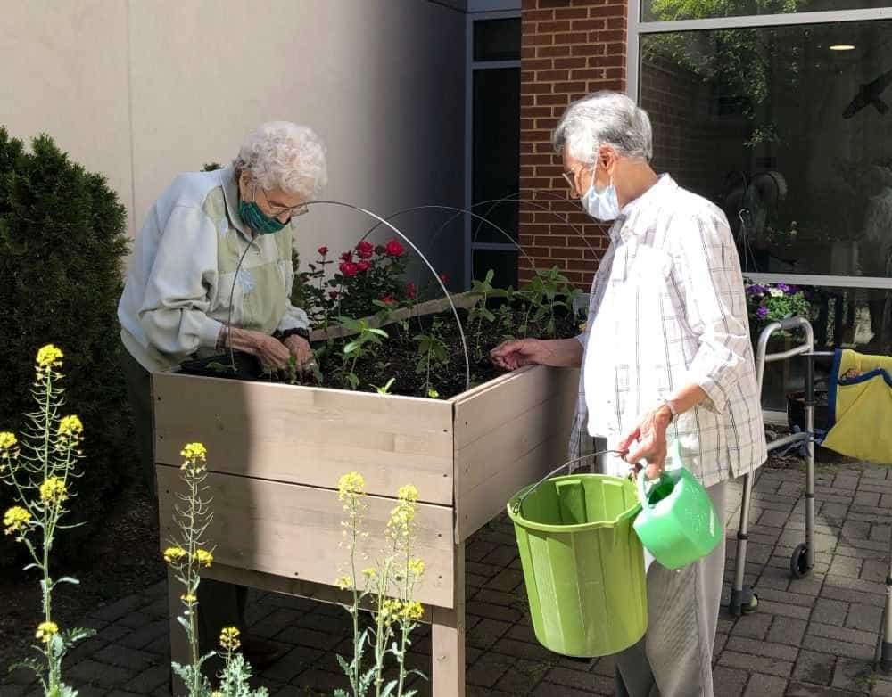 Sisters help their garden grow